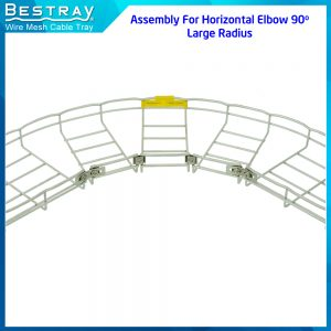 Horizontal elbow 90 degree, Large Radius